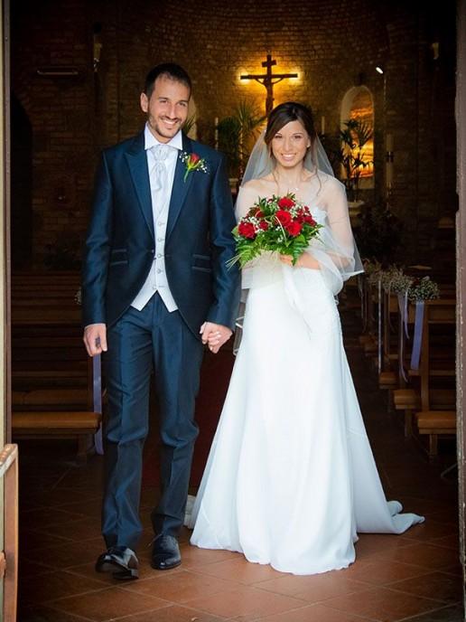 Lorenzo e Lucia sposi