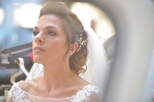 Ilaria acconciatura e velo da sposa